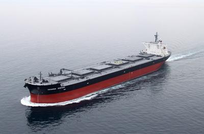 20120517nyk - 日本郵船/新造砂鉄運搬船竣工