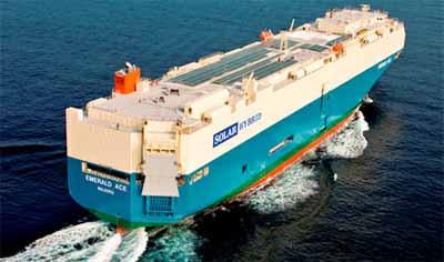 20120629mol - 商船三井/ハイブリッド自動車船竣工