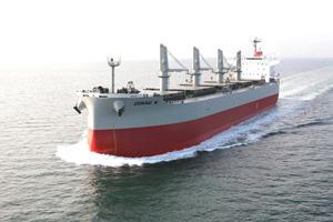 20120820kawasaki - 川崎重工/ばら積運搬船を引き渡し