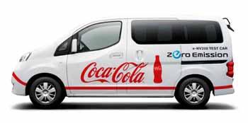20121112nissan - 日産/コカ・コーラ セントラル ジャパンで電気商用車の実証運行
