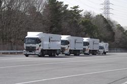 20130326OKI - 沖電気/大型トラック4台の自動運転・隊列走行実験に参画