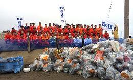 20131007syosenm - 商船三井/鎌倉、幕張、鹿島灘で海岸清掃