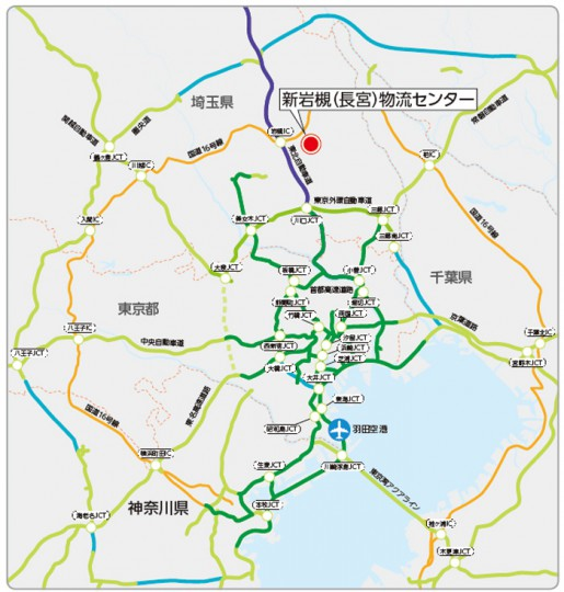 20140820daiichi2 515x540 - 第一倉庫冷蔵/埼玉県岩槻市に3万平方米の冷凍物流センター建設