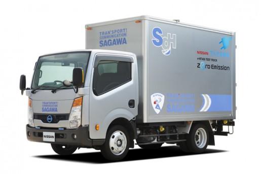 100%電気トラック「e-NT400 テストトラック」