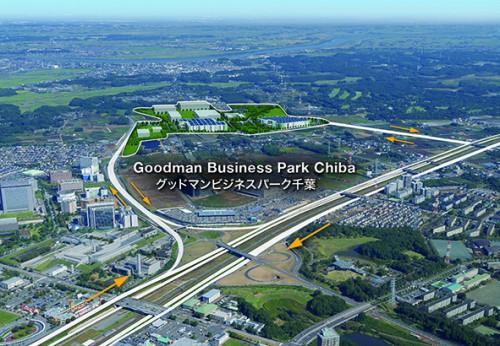 グッドマンビジネスパーク千葉の鳥瞰