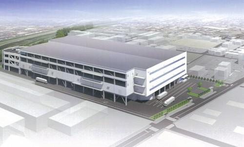 20141203cbre 500x302 - CBRE/大阪・高槻市で建築中の大型物流施設、19日に内覧会