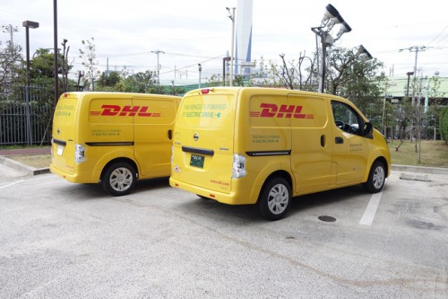 20141215dhl 500x333 - DHLジャパン/丸の内に電気商用車を集配業務で導入
