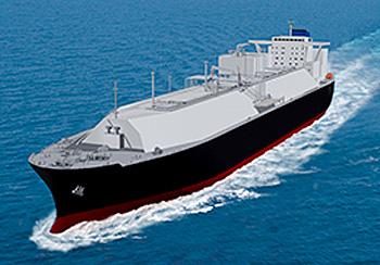 新造LNG船イメージ図