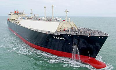20150202mol1 - 商船三井/パプアニューギニアLNGプロジェクト向け新造LNG船竣工