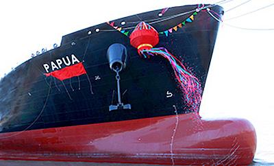 20150202mol2 - 商船三井/パプアニューギニアLNGプロジェクト向け新造LNG船竣工