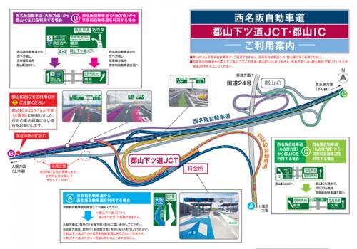 20150224nexcow 500x350 - 西名阪自動車道/郡山下ツ道JCT、3月22日開通