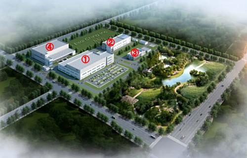 新蘇州工場 新固体剤生産棟、管理棟完成予想図