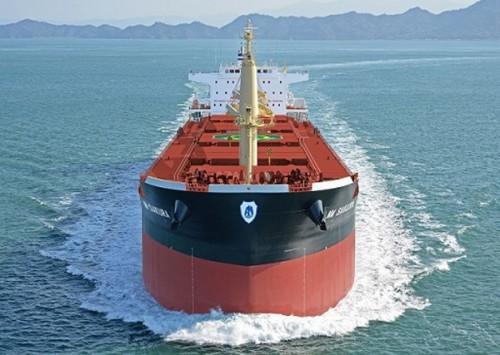 20150225jmu 500x355 - JMU/FUTUREシリーズ60型バルクキャリア船を引き渡し