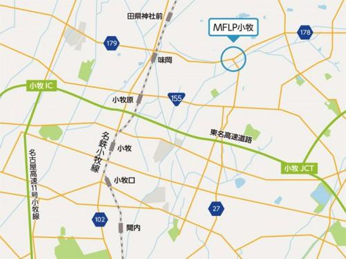 MFLP小牧位置図
