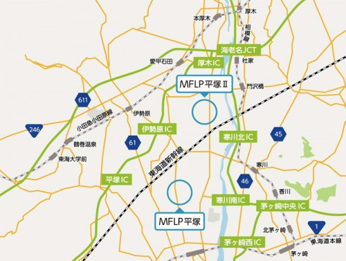 MFLP平塚II位置図