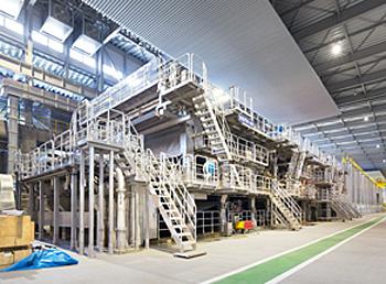20150304rengo2 - 丸三製紙/段ボール原紙生産設備、竣工