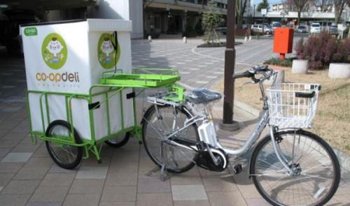 20150309mirai1 500x295 - コープみらい/リヤカー付き電動自転車導入し、配達合理化