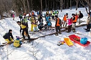 20150316nittsu - 日通/山形県飯豊町の「日通の森」で冬の森林育成活動