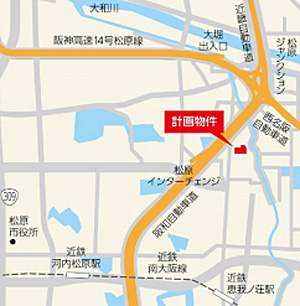 20150325nissei3 - 日本生命/大阪府松原市に大型物流施設建設
