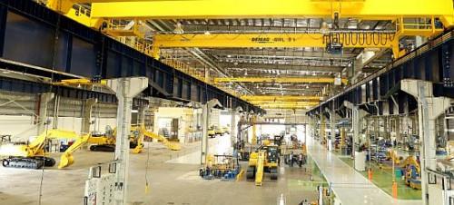 コマツインディアの新油圧ショベル工場
