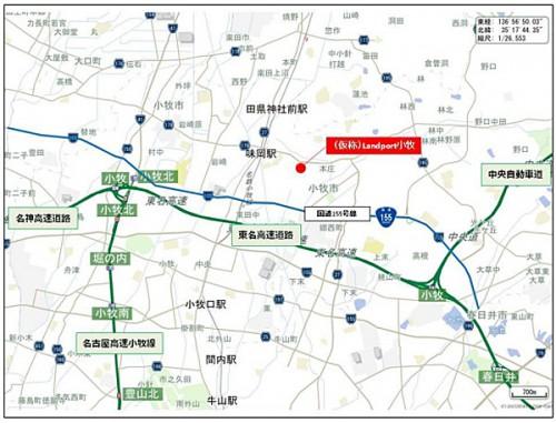 「(仮称)Landport 小牧」詳細地図