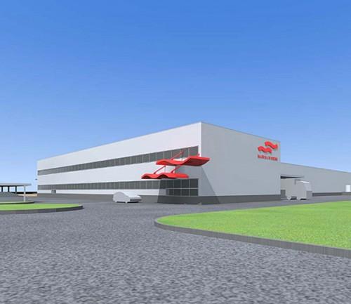 新工場の完成予想図