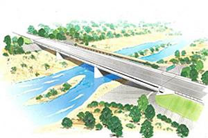 カラ橋完成予想図