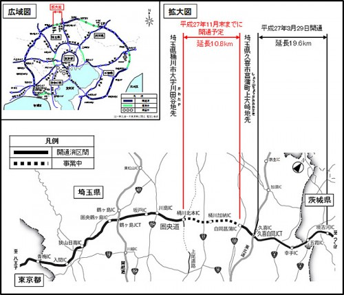 20150709kenoudo 500x429 - 圏央道/桶川北本IC~白岡菖蒲IC間、11月末までに開通