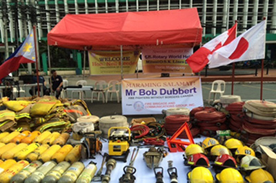 寄贈された消防用器具の一部