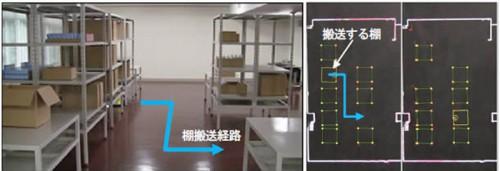 20150804hitachi2 500x171 - 日立製作所/物流倉庫内の無人搬送車、自律走行技術開発