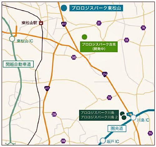 20150827prolog2 500x473 - プロロジス/埼玉県東松山市に7万m2の物流施設開発