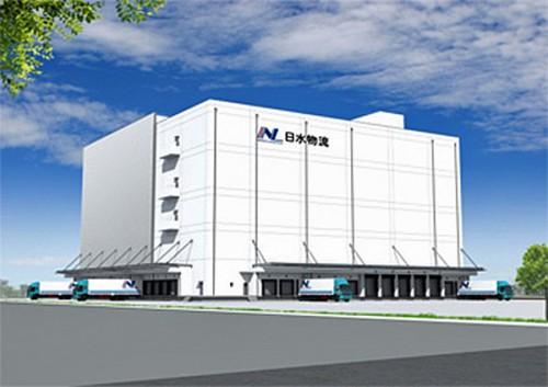 大阪舞洲物流センター、完成予想図