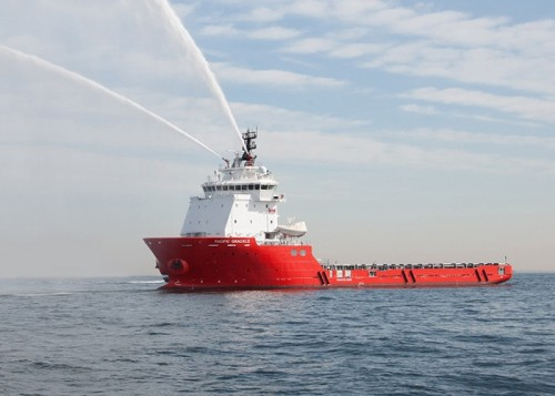 20150918jmu 500x357 - JMU/Platform Supply Vessel 「 PACIFIC GRACKLE」命名・引き渡し