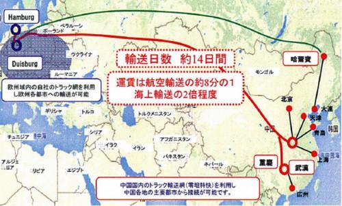 20151113nittsu 500x301 - 日通/鉄道による中国-欧州間クロスボーダー一貫輸送開始