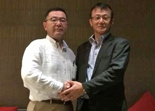 (左)ロジザード 大塚海外推進部部長、エム・ソフトタイランド マネージャ黒田氏
