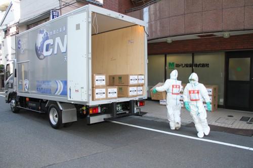 20151202sagawa2 500x333 - 佐川急便/新型インフルエンザ対策訓練