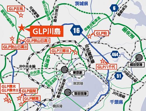 20160209glp2 500x380 - GLP/84億円投じ、埼玉県川島町に4.9万m2のマルチテナント型物流施設開発