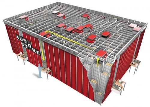 20160311nitori21 500x357 - ニトリ/国内初の積み木型ロボット倉庫稼働、段ボールも形状に合わせ自動化
