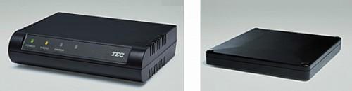 RFIDリーダライタUF-2140(左)とUF-2110-AM-R