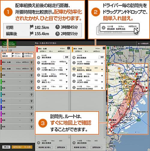 20160413navitime 500x504 - ナビタイムジャパン/法人向け運行管理サービスに配車サポーター追加