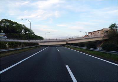 九州自動車道、跨道橋の落下
