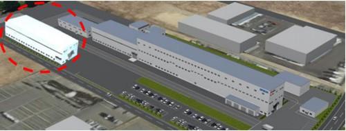 エプソンアトミックス 北インター事業所(破線で囲んだ箇所が新工場のイメージ)