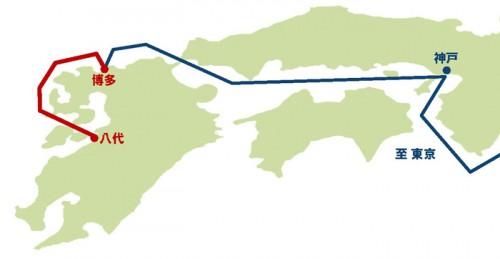 20160422imoto1 500x259 - 井本商運/被災地へ八代港~博多港の海上コンテナ輸送航路、臨時開設