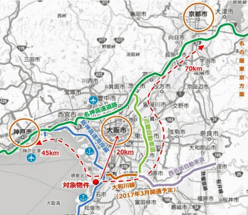 20160511lasale3 500x433 - ラサール不動産投資顧問/大阪府堺市に敷地15万m2の物流施設着工