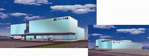 工場の完成予想図