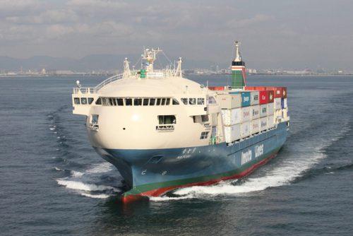 国内最大の内航コンテナ専用船「なとり」