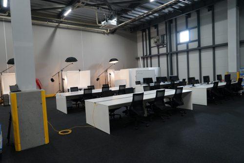 実際の5階部分、撮影スペースとデータ作成・加工スペース
