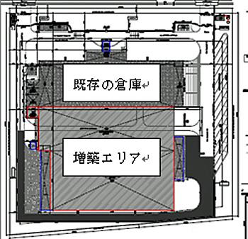 ニムラロジスティクスセンター倉庫見取り図