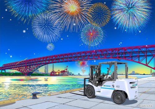 20160705unicarriers 500x353 - ユニキャリア/鈴木英人氏とのイラストコラボレーション企画第2弾