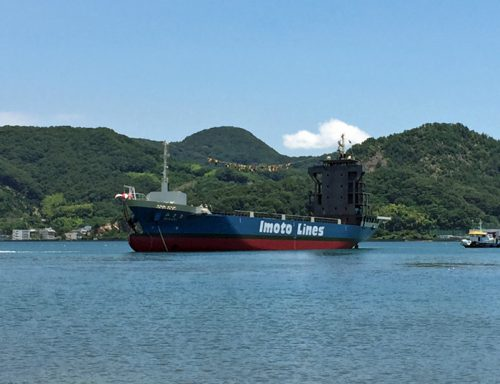 20160706imoto2 500x384 - 井本商運/コンテナ専用船進水、東日本航路に就航する予定